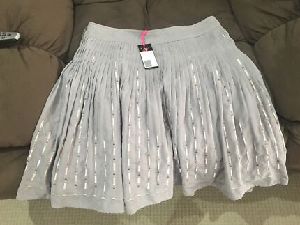 Grey skirt with sequins brand new