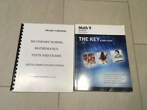 Grade 9 Academic Math Lesson and Work Books