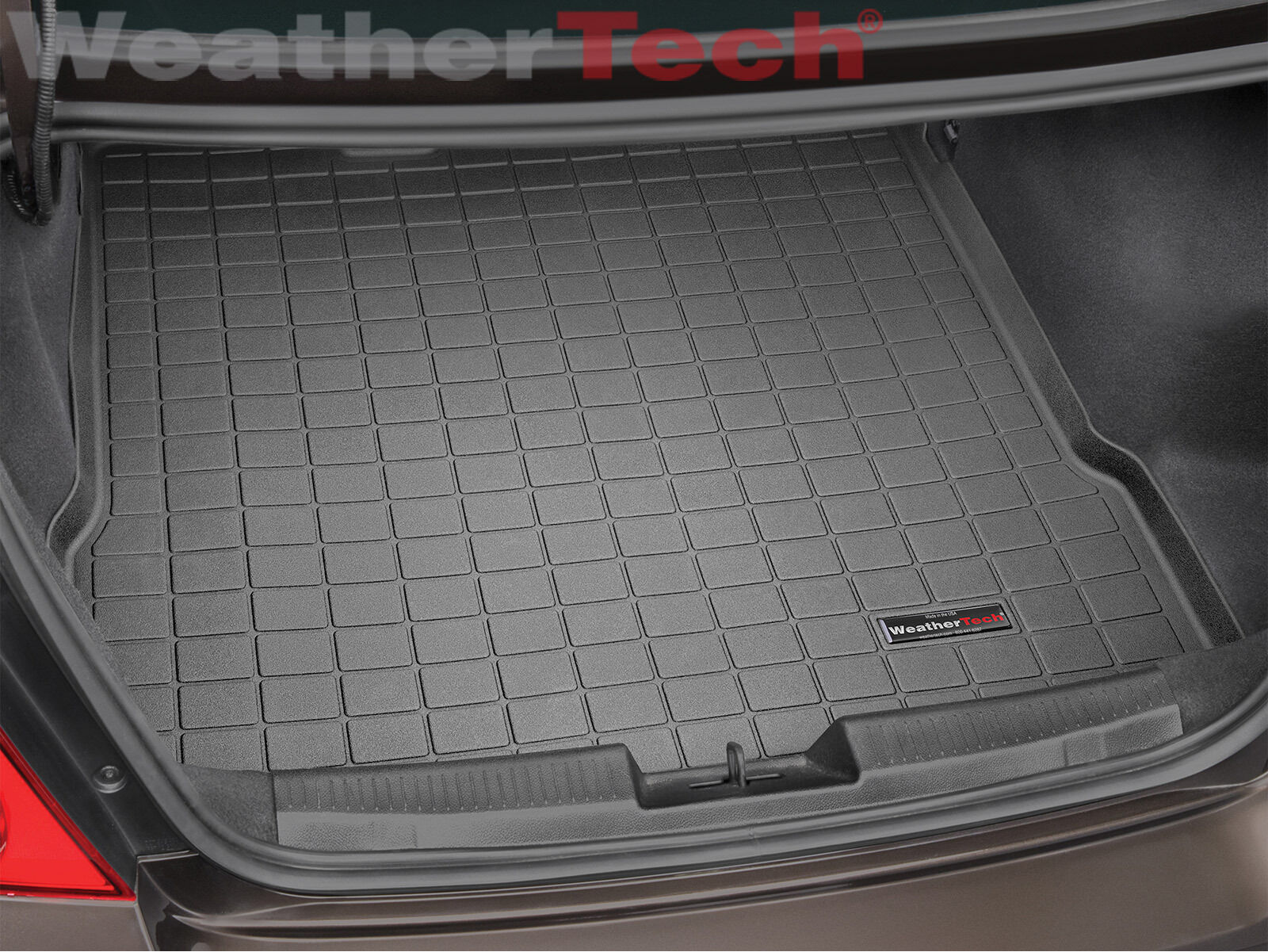 2012-2018 Black WeatherTech Cargo Liner Trunk Mat for Chevy Sonic Sedan