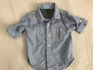 Baby Gap dress shirt w/ roll up sleeve