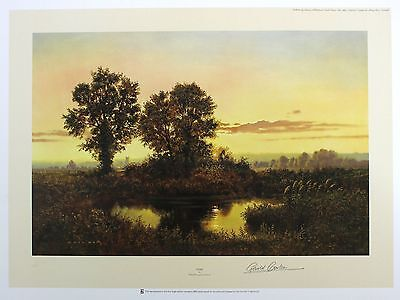 """GERALD COULSON """"Dusk"""" countryside pond LIM ED SIGNED! SIZE:51cm x 68cm NEW RARE"""
