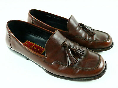 COLE HAAN Men's Dwight Tassel Loafer Slip On Kiltie Moccasin 8D Saddle Tan 08025