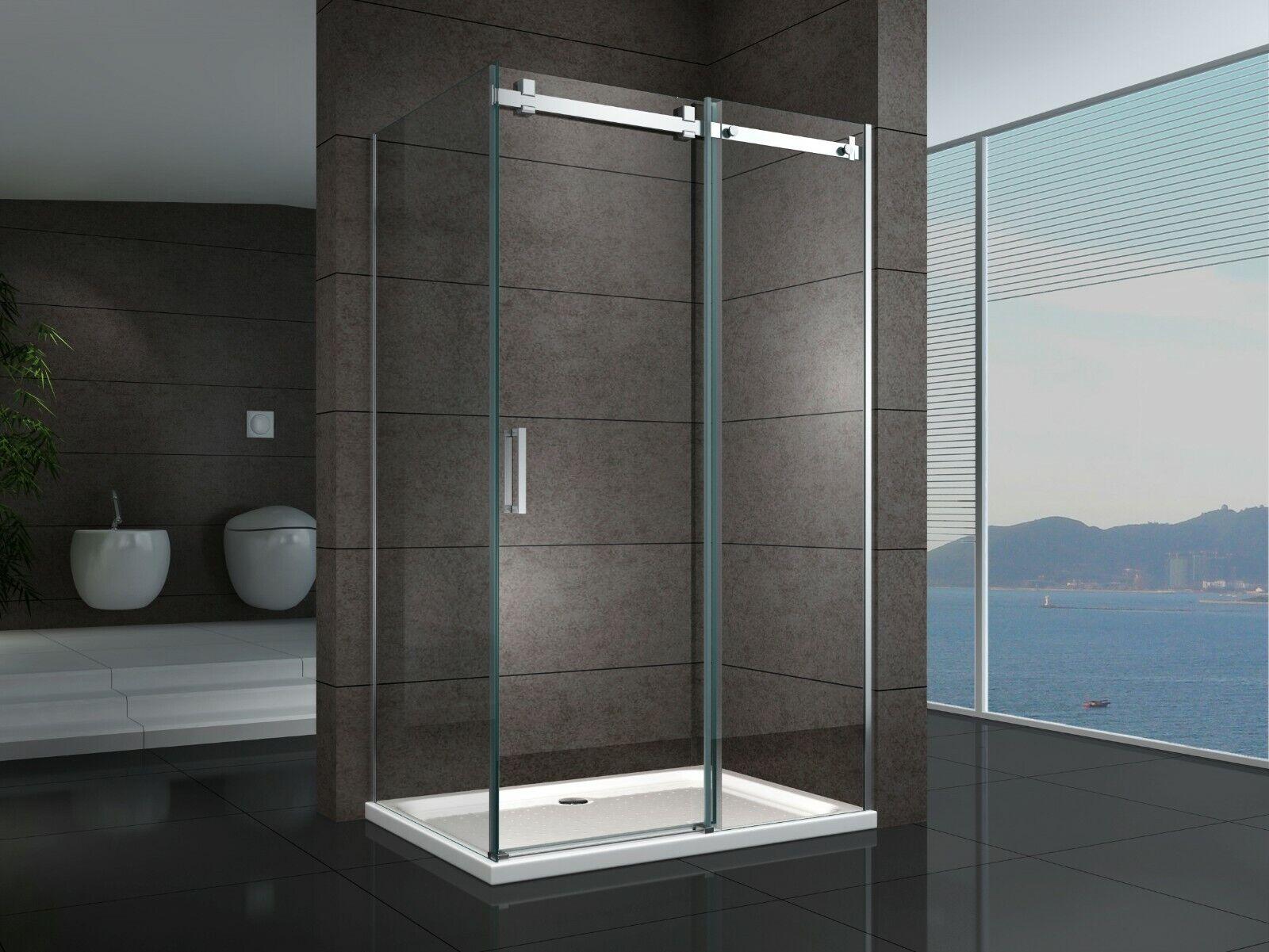 Details About Adjustable Semi Frameless Shower Screen 1100 To 1800 Mm Door X 800 900mm Panel