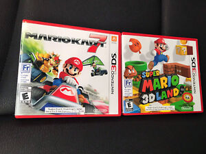 Mario 3DS Kart 7 and 3D Land