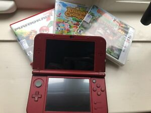 3ds XL, games and case