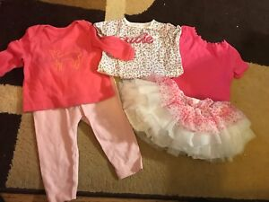 18 pieces : 0-3 month and 3-6 month baby girl clothing