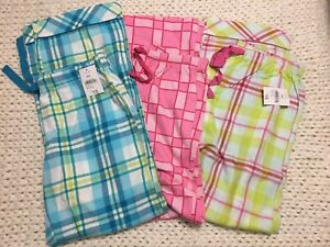 3 pairs flannel pyjama pants - new with tags