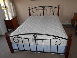 Queen Bed Heavy Duty Metal Frame with Sealy Premium Mattress Stirling Stirling Area Preview