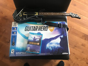 Nintendo Wii U Guitar Hero for just $15. All In great condition
