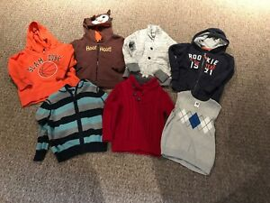 LOT (7 Total) of Toddler Boy's Sweatshirts/Sweaters - Size 4T