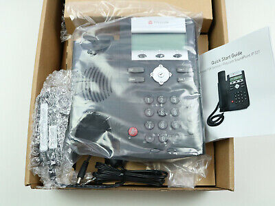 Polycom Soundpoint Ip 331 Poe 2 Line Voip Phone 10100 Ethernet With Psu