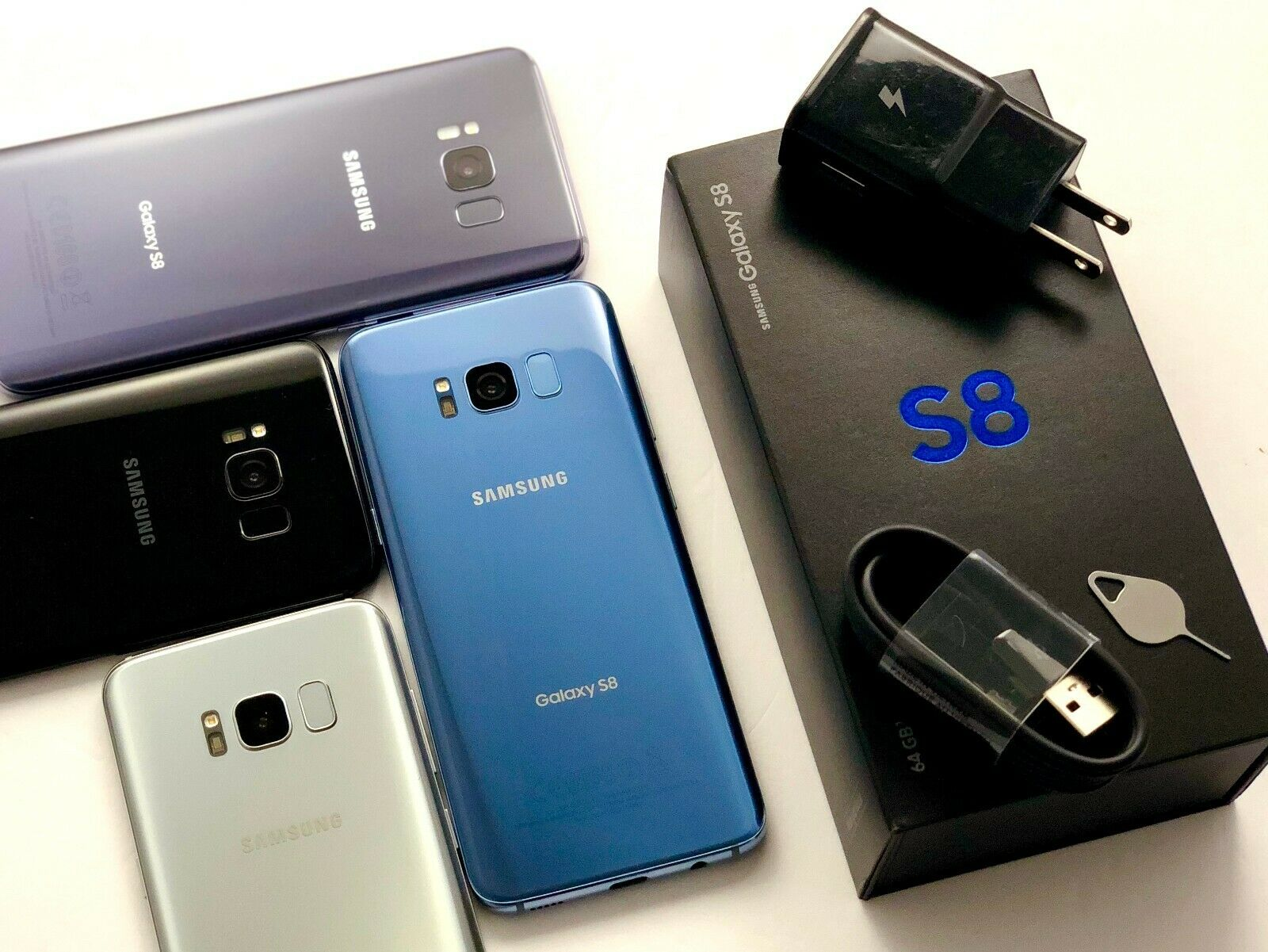 Android Phone - Samsung Galaxy S8 SM-G950U T-Mobile AT&T Cricket Sprint Verizon Carrier Unlocked