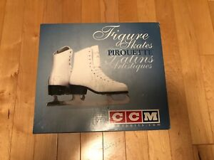 CCM Figure Skates Size 1 White Never Used New in Box