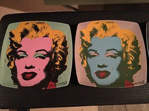 Andy Warhol decorative plates - set of 4