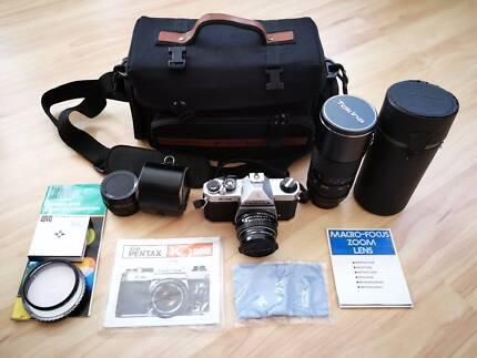 Pentax K1000 + 50mm + 70-210mm (Complete Kit) **Near Mint!**