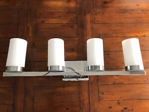 Like New- 4 light bathroom wall sconce