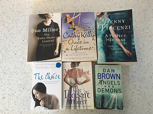 Six books (incl Penny Vincenzi and Dan Brown's Angels and Demons) Mullaloo Joondalup Area Preview