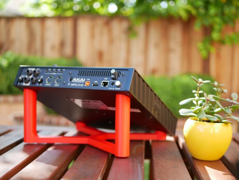 Desktop Stand for Akai MPC One - Dual Angle (Red)