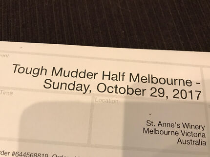 Tough Mudder Ticket 29/10