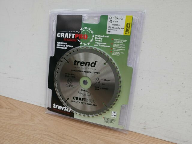 TREND 165MM 48T TCT CIRCULAR SAW BLADE 16/20/30MM BORE CSB/16548