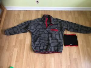 Patagonia syncilla snap-T fleece pull over men size L