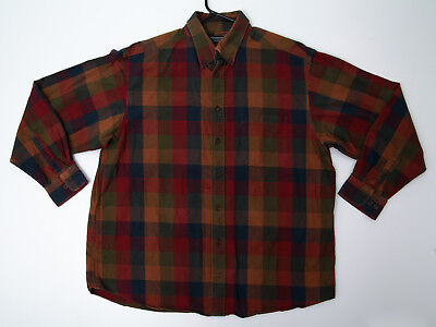 Autumn Flannel Autumn Flannel - Vintage Roundtree & Yorke Portuguese Fall Autumn Flannel Plaid Shirt - Men's XL