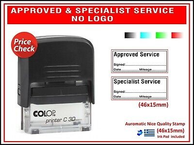 Colop Self Inking Rubber Stamp Approved Specialist Service Garage 45x15