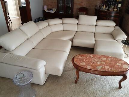Demir Leather Couch