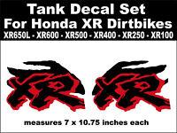 HONDA XR100 XR 100 FUEL TANK GRAPHICS  SET GAS TANK DECALS THICK REPLACMENT