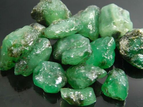 49.00Ct+ Natural Translucent Colombian Emerald Loose Mineral Rough Gemstone Lot