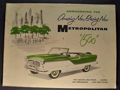 Factory Photo 1962 Nash Metropolitan Cape Cod Convertible Coupe Ref. #57261
