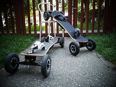 Electric Off Road Skateboard dual motors, 3300W , w/ Upgrades Assembled in USA