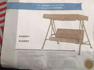 Canopy for Parker or Sandstone Swing