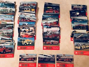 FIRE  TRUCK CARDS INCLUDING HFX ENGINES ..  !!