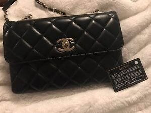 Gently Used Once Chanel Black Trendy Bag