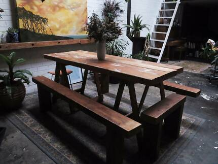 Timber Table With Stools Included