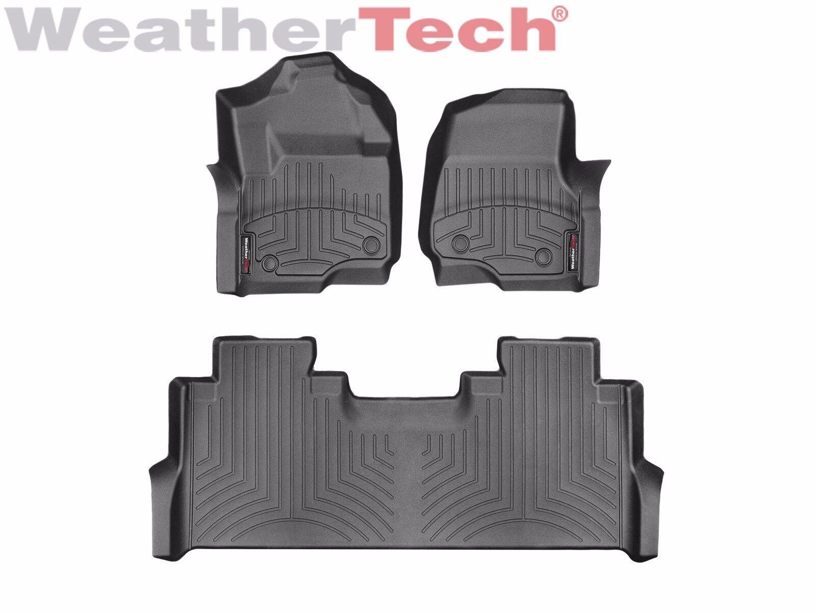 Weathertech Floor Mats Floorliner For Ford Super Duty Crew Cab 2017 2019 Black Ebay