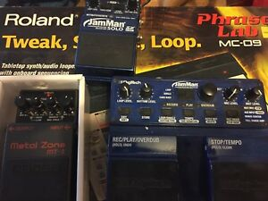 Metal zone mt 2 , jam man solo, looper phaser