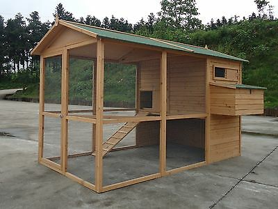 GIANT Chicken Coop Poultry Cat Rabbit  CC058  upto 12 hens 8ft x 6ftm