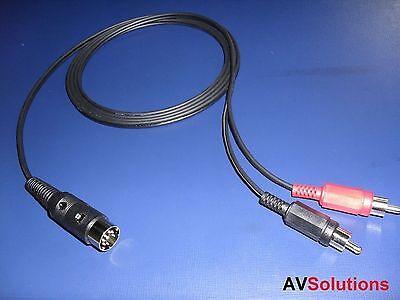 RCA Plugs to Bang & Olufsen B&O 7-Pin DIN Plug (8 Metres)