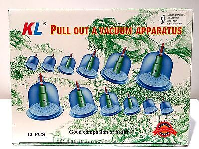 ACUPUNCTURE KIT - 12 CUPS AND PUMP VACUUM CUPPING SET HIJAMA - CHEAPEST ON EBAY!