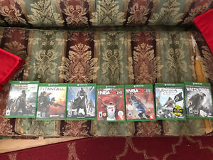 Xbox one games. 50 bucks for them all