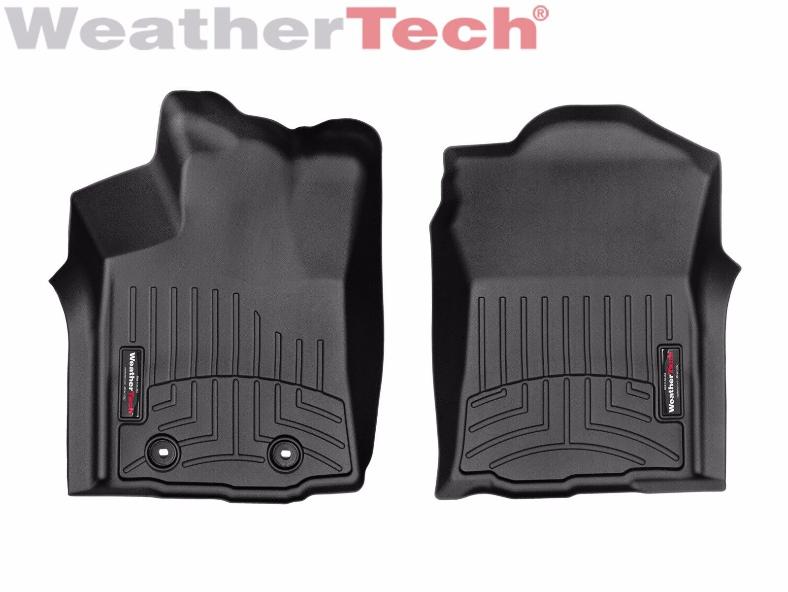 WeatherTech FloorLiner for Toyota Tacoma Double Cab 2016-2017 1st 2nd Row Black