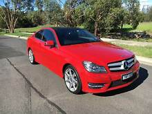 MY2012 Mercedes-Benz C250 CDI Coupe Fire Red South Yarra Stonnington Area Preview