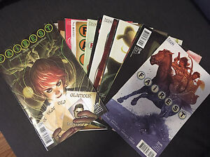 Various single issues of Fairest comic series