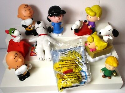 Peanuts McDonalds Toys Sally Snoopy Charlie Brown Schroeder + Wendy's Mini Plush