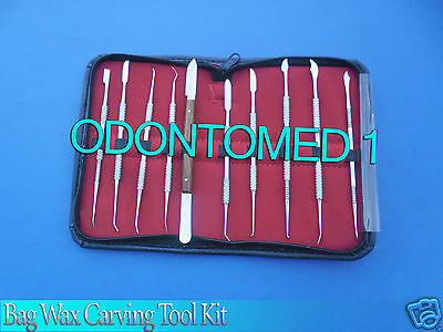Dental Lab Stainless Steel Kit Wax Carving Tool Set Surgical Dental Instruments