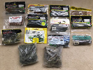 Huge lot of fishing lure plastics. Most are new in package