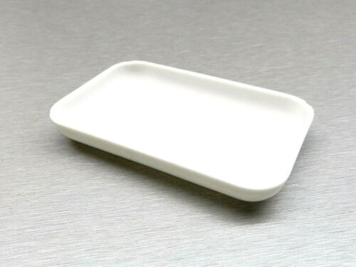 "WHITE PLASTIC TRAY FOR BEADS COLOR GEMSTONES SMALL OPEN TRAY 4""x2-1/2"" RECTANGLE"
