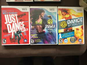 Just Dance, Dance workout and Zumba for Wii